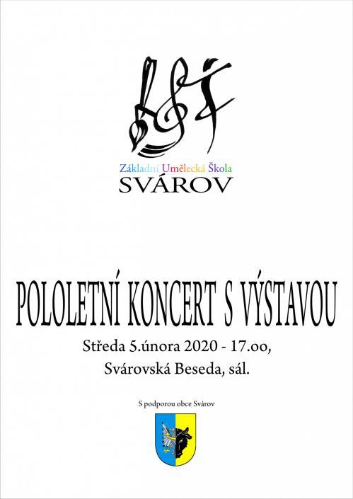Pololetní koncert svýstavou