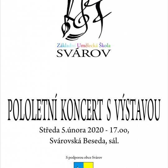 Pololetní koncert s výstavou